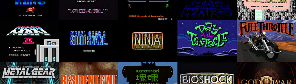 Art of the Title: Brief History of Video game titles